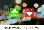 binary option background with... | Shutterstock . vector #491700292