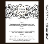 vintage delicate invitation... | Shutterstock . vector #491713948