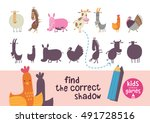 find the correct shadow. kids... | Shutterstock .eps vector #491728516