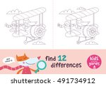 find the differences. kids... | Shutterstock .eps vector #491734912