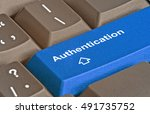 hot key for authentication | Shutterstock . vector #491735752