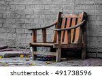 Small photo of The sight of this chair made me imagine it's plight for good few minutes. Battered yet holding on, the slippers, dry leaves, litter all around - all speak of a story - an untold one..may be unfinished
