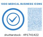 cobalt ok vector rounded icon....