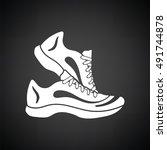 fitness sneakers icon. black... | Shutterstock .eps vector #491744878
