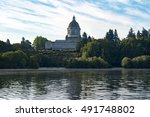 olympia  washington state... | Shutterstock . vector #491748802