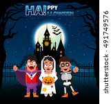 characters costume holiday... | Shutterstock .eps vector #491749576