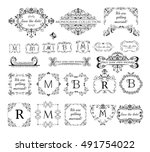 set of vintage labels  headers... | Shutterstock .eps vector #491754022