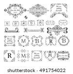 set of vintage labels  headers... | Shutterstock .eps vector #491754022