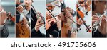 classical music collage of... | Shutterstock . vector #491755606