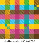 Creative Plaid Seamless Patter...