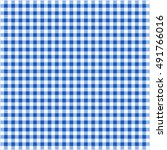 Blue And White Checked...