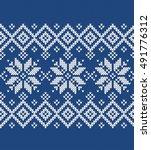 winter sweater fairisle.... | Shutterstock .eps vector #491776312