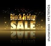 black friday sale background... | Shutterstock .eps vector #491785426