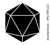 icosahedron in black  sacred... | Shutterstock .eps vector #491789122
