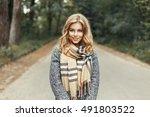 beautiful young girl in a...   Shutterstock . vector #491803522
