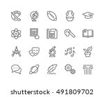 simple set of school subjects... | Shutterstock .eps vector #491809702