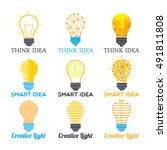 bulb logos | Shutterstock .eps vector #491811808