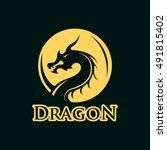 dragon logo | Shutterstock .eps vector #491815402