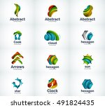 set of abstract company... | Shutterstock . vector #491824435