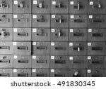 locker wooden with monochrome... | Shutterstock . vector #491830345
