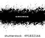 ink splash background.cracked... | Shutterstock .eps vector #491832166