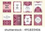 save the date. set of cards... | Shutterstock .eps vector #491835406