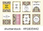 save the date. set of cards...   Shutterstock .eps vector #491835442
