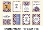 save the date. set of cards... | Shutterstock .eps vector #491835448