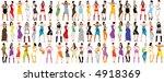 vector fashion girls. | Shutterstock .eps vector #4918369