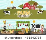 agriculture and farming.... | Shutterstock .eps vector #491842795