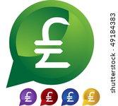 pounds money sign | Shutterstock . vector #49184383