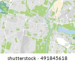 vector city map of poznan ...   Shutterstock .eps vector #491845618
