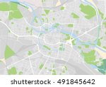 vector city map of wroclaw ... | Shutterstock .eps vector #491845642