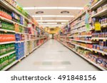 blurred image of supermarket... | Shutterstock . vector #491848156