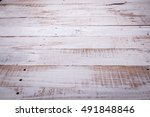 white wood vintage texture in... | Shutterstock . vector #491848846