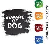 beware dog | Shutterstock . vector #49185490