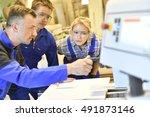 professional teacher showing... | Shutterstock . vector #491873146