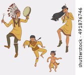 Native Americans  Dancing...