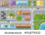 vector illustration. city top... | Shutterstock .eps vector #491879332