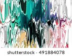 abstract digital brush painting ... | Shutterstock . vector #491884078