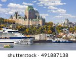 Quebec City Skyline And St...