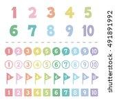 set of pastel color number  ...   Shutterstock .eps vector #491891992