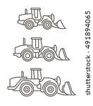 construction machinery  wheel... | Shutterstock .eps vector #491894065