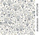 diwali seamless pattern. vector ... | Shutterstock .eps vector #491907148