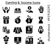 earning   money   income icon... | Shutterstock .eps vector #491910292