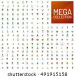 logo mega collection  abstract... | Shutterstock .eps vector #491915158