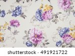 fragment of colorful retro... | Shutterstock . vector #491921722