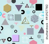 trendy geometric elements... | Shutterstock .eps vector #491927782