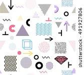 trendy geometric elements... | Shutterstock .eps vector #491927806