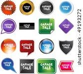 garage sale | Shutterstock .eps vector #49193272